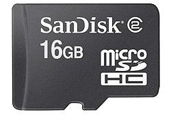 SanDisk Secure Digital Micro 16GB SDHC